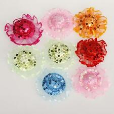 10pcs Lovely Sequined Party Hats Lace Topee Caps For Barbie Doll Accessories New