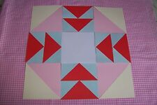 "12"" BLOCK PATTERN - TEMPLATES TO MAKE A QUILTING CAPITAL T BLOCK - 120gsm"