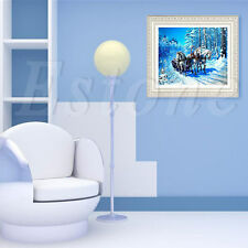 5D DIY Horse-drawn Sleigh Embroidery Diamond Painting Cross Stitch Kit Crafts