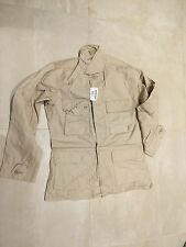 BDU SHIRT, KHAKI, NEW OLD STOCK , 2007, NYCO, SMALL REGULAR, US MADE