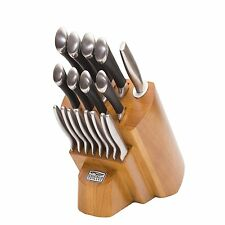 CHICAGO CUTLERY Fusion Stainless Steel KNIFE BLOCK SET, KITCHEN KNIVES, 1119644