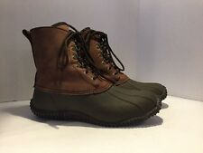 J Crew Men's Brown Leather Rubber Lace Up Winter Boots Snow Size 8