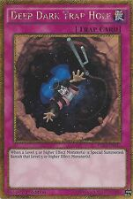 YU-Gi-Oh card: Deep Dark Trap Hole-GOLD SECRET RARE-pgl3-en037 1st Edizione