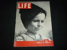 1939 JANUARY 6 LIFE MAGAZINE - BOY OF ROMANIA - BEAUTIFUL FRONT COVER - GG 201