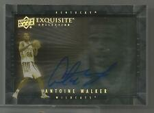 2012-13 Exquisite Basketball Antoine Walker Shadowbox Autographed Card # D-AW