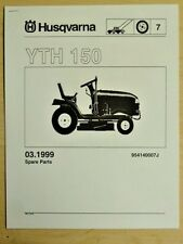 HUSQVARNA YTH 150 LAWN GARDEN TRACTOR MOWER PARTS LIST MANUAL