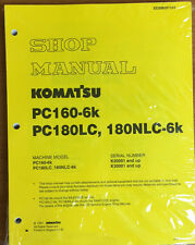 Komatsu Service PC160-6K, PC180LC-6K/NLC-6K Shop Manual