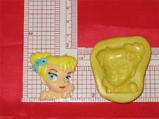 Disney Tinker Bell 2D Push Mold Silicone A623 Cake Topper Fondant Resin Clay Wax