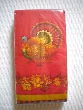 20 Count 2 ply Travis Spencer GUEST Paper Towels ~ Napkins Traditional Turkey