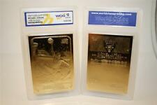 MICHAEL JORDAN 1986 Fleer ROOKIE 23KT Gold Card Sculptured - Graded GEM MINT 10