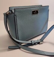 "NEW Kate Spade ""Prospect Place Hayden"" Crossbody Leather Satchel in Fresco Blue"