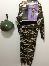 NEW  Halloween Costume Cosplay Boys Girls SOLDIER Costume SMALL. Army CAMO