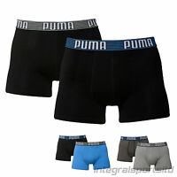Puma Boxer Shorts Mens Striped Soft Feel Cotton Sports Athletic Pants (2 Pack)