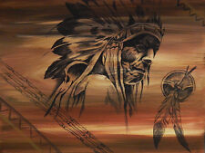 """Native American Chief 16"""" x 12"""" Art Print Poster by Ed Capeau"""