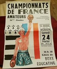 1979 Boxing FRENCH AMATEUR CHAMPIONSHIPS Fight Poster/Program ST-BRIEUC, FRANCE