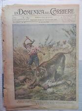 LA DOMENICA DEL CORRIERE 26 Dicembre 1926 Tigre indiana teatro Apollo a Roma di