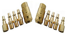 10PC BRASS QUICK RELEASE AIR LINE COUPLER CONNECTOR SET FOR COMPRESSOR TOOLS