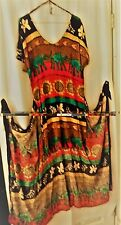 womens multi color rap dress size 14