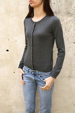 Marina Yachting Women Long Sleeved Grey Casuals Cardigan Button S Small