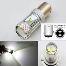 White DC 12V Auto Bulb Car Turn Signal Rear Light 1157 BAY15D 30W CREE LED