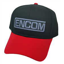 Tron Movie ENCOM Embroidered Patch Red Black Snapback Baseball Cap Hat