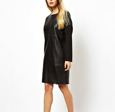NWT $140 Designer PREMIUM Pencil Shirt Dress in BRODERIE - Black  Pure Cotton