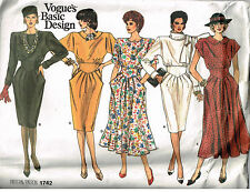 PATTERN for DRESSES Waist Detail Size 12-14-16 UNCUT Vogue Basic Design 1742