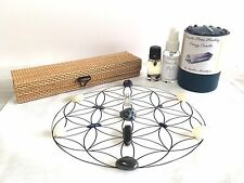 Crystal Grid Cloth, Healing Energy, Tumbled Stones, Candle, Mist, &Oil