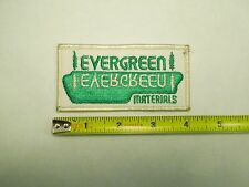 Vintage Evergreen Materials Truck Uniform Logo Embroidered Sew On Patch