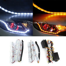 2x 50cm Car Daytime Running Lights Guide LED Strip Turn Signal Lamp Switchback