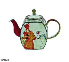 KELVIN CHEN Enamel Mini Copper Handpainted Miniature Teapot-photograghes LauTrec