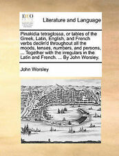 Pinakidia tetraglossa, or tables of the Greek, Latin, English, and French verbs