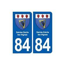 84 Sainte-Cécile-les-Vignes blason autocollant plaque stickers ville droits