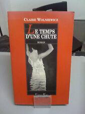 Le temps d'une chute - Claire Wolniewicz - Vivianne Hamu éditions