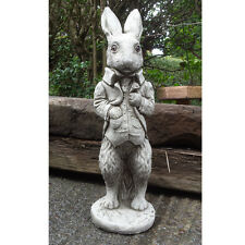 PETER RABBIT Hand Cast Stone Animal Garden Ornament Patio Decor ⧫onefold-uk