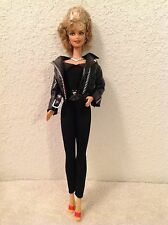 Olivia Newton John~Barbie Doll~ Bad Sandy~Grease~Black Leather~No Box~As Is
