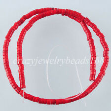 """Howlite Red Turquoise 2x4mm Rondelle Loose Spacer Beads 15.5 """" G1503"""
