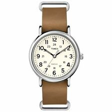"Timex T2P492, Men's ""Weekender"" Brown Leather Watch, Indiglo, T2P4929J"