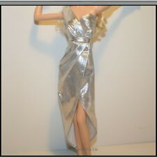City Shine Barbie Silver Dress Black Label For The Adult Collector Mattel #CFP35
