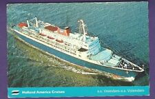 1973 SS Veendam - SS Volendam @ Sea Color Postcard - Holland America Line