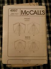 McCall's sewing pattern 4997 medieval costume dress size 14-20 no cover
