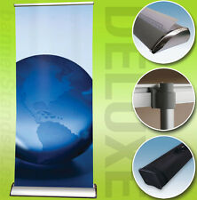 """33x79"""" DELUXE Retractable Roll Up Trade Show Display Banner Stand, Free Printing"""