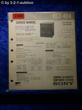 Sony Service Manual HST 404 Component System (#3360)