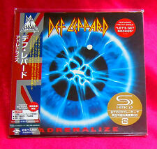 DEF LEPPARD ADRENALIZE JAPAN AUTHENTIC SHM MINI LP CD NEW OOP RARE UICY-93454