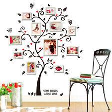 Famiglia Rami D'albero Cornice Foto Citazioni FAI-DA-TE Adesivi Da Parete Casa