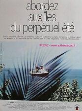 PUBLICITE CGT TRANSAT PAQUEBOT FRANCE ANTILLES CROISIERE BATEAU 1976 FRENCH AD