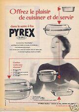 Publicité Advertising 096 1957 Pirex le verre à feu