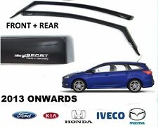 GENUINE FORD FOCUS ESTATE CLIMAIR WIND AIR DEFLECTORS DARK TINT FRONT + REAR