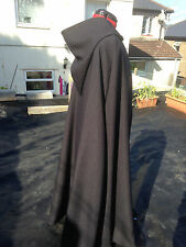 hooded cloak black  With black lined hood more (c delux 39)