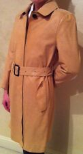 3.1 phillip lim Silk Lined Beige Crocodile Print Lambskin Coat with Belt~Size 6